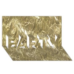 Crumpled Foil Golden PARTY 3D Greeting Card (8x4)