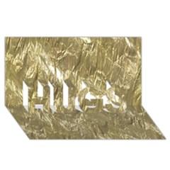 Crumpled Foil Golden Hugs 3d Greeting Card (8x4)