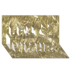 Crumpled Foil Golden Best Wish 3d Greeting Card (8x4)