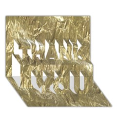 Crumpled Foil Golden Thank You 3d Greeting Card (7x5)