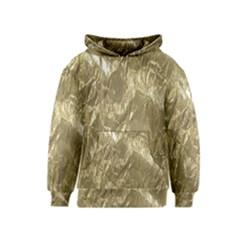 Crumpled Foil Golden Kid s Pullover Hoodies