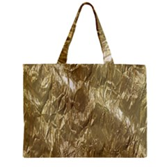 Crumpled Foil Golden Zipper Tiny Tote Bags