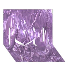 Crumpled Foil Lilac I Love You 3d Greeting Card (7x5)