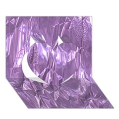 Crumpled Foil Lilac Heart 3D Greeting Card (7x5)