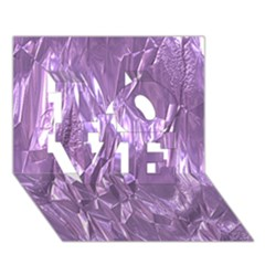 Crumpled Foil Lilac Love 3d Greeting Card (7x5)