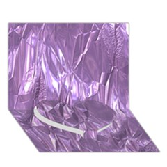 Crumpled Foil Lilac Heart Bottom 3D Greeting Card (7x5)