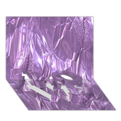 Crumpled Foil Lilac LOVE Bottom 3D Greeting Card (7x5)