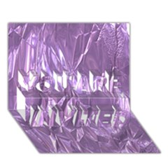 Crumpled Foil Lilac YOU ARE INVITED 3D Greeting Card (7x5)