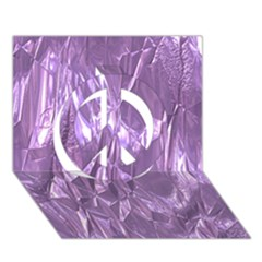 Crumpled Foil Lilac Peace Sign 3d Greeting Card (7x5)