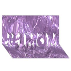 Crumpled Foil Lilac #1 MOM 3D Greeting Cards (8x4)