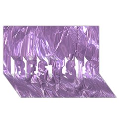 Crumpled Foil Lilac Best Sis 3d Greeting Card (8x4)