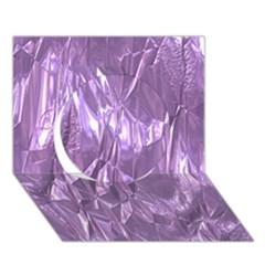 Crumpled Foil Lilac Circle 3d Greeting Card (7x5)