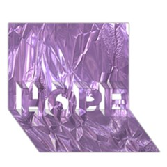 Crumpled Foil Lilac Hope 3d Greeting Card (7x5)