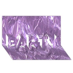 Crumpled Foil Lilac Party 3d Greeting Card (8x4)