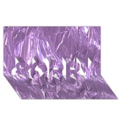 Crumpled Foil Lilac SORRY 3D Greeting Card (8x4)