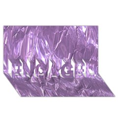 Crumpled Foil Lilac ENGAGED 3D Greeting Card (8x4)