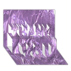 Crumpled Foil Lilac THANK YOU 3D Greeting Card (7x5)