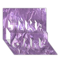 Crumpled Foil Lilac TAKE CARE 3D Greeting Card (7x5)