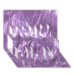 Crumpled Foil Lilac You Did It 3d Greeting Card (7x5)