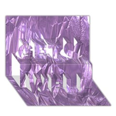 Crumpled Foil Lilac Get Well 3d Greeting Card (7x5)