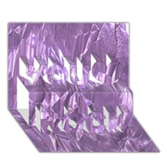 Crumpled Foil Lilac You Rock 3D Greeting Card (7x5)