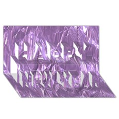 Crumpled Foil Lilac Happy New Year 3D Greeting Card (8x4)