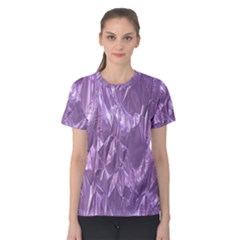 Crumpled Foil Lilac Women s Cotton Tees