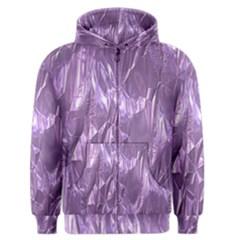 Crumpled Foil Lilac Men s Zipper Hoodies