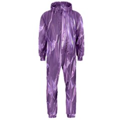 Crumpled Foil Lilac Hooded Jumpsuit (men)