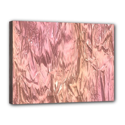 Crumpled Foil Pink Canvas 16  x 12