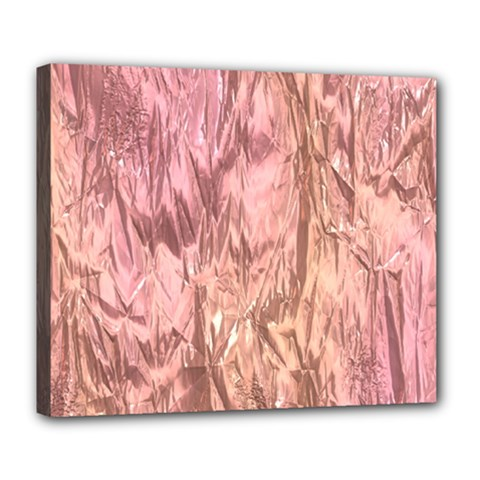 Crumpled Foil Pink Deluxe Canvas 24  x 20