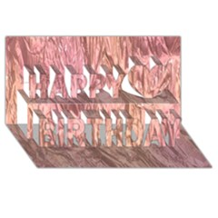 Crumpled Foil Pink Happy Birthday 3d Greeting Card (8x4)