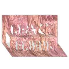 Crumpled Foil Pink Best Friends 3d Greeting Card (8x4)
