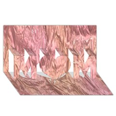 Crumpled Foil Pink Mom 3d Greeting Card (8x4)