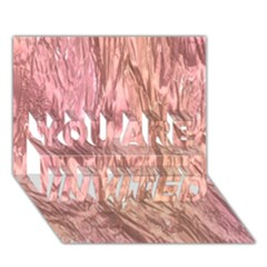 Crumpled Foil Pink YOU ARE INVITED 3D Greeting Card (7x5)