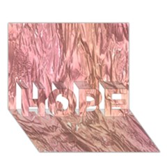 Crumpled Foil Pink HOPE 3D Greeting Card (7x5)