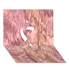 Crumpled Foil Pink Ribbon 3d Greeting Card (7x5)
