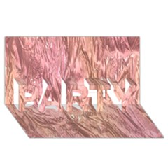Crumpled Foil Pink Party 3d Greeting Card (8x4)