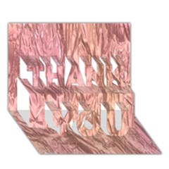 Crumpled Foil Pink Thank You 3d Greeting Card (7x5)