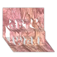 Crumpled Foil Pink Get Well 3D Greeting Card (7x5)