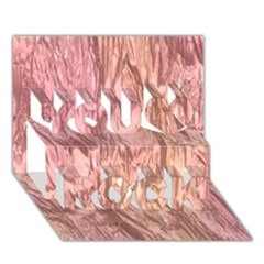 Crumpled Foil Pink You Rock 3d Greeting Card (7x5)