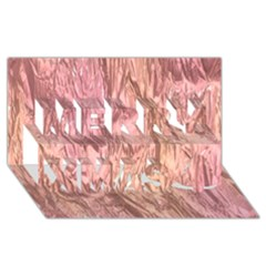 Crumpled Foil Pink Merry Xmas 3d Greeting Card (8x4)