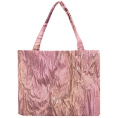 Crumpled Foil Pink Tiny Tote Bags