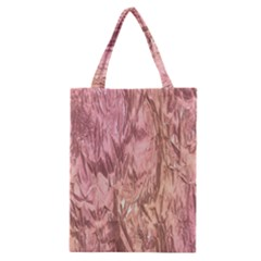 Crumpled Foil Pink Classic Tote Bags