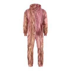 Crumpled Foil Pink Hooded Jumpsuit (Kids)