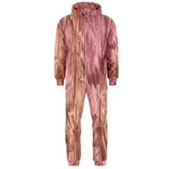 Crumpled Foil Pink Hooded Jumpsuit (Men)