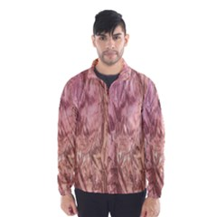Crumpled Foil Pink Wind Breaker (Men)