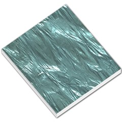Crumpled Foil Teal Small Memo Pads