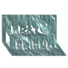 Crumpled Foil Teal Best Friends 3d Greeting Card (8x4)