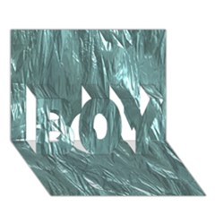 Crumpled Foil Teal BOY 3D Greeting Card (7x5)